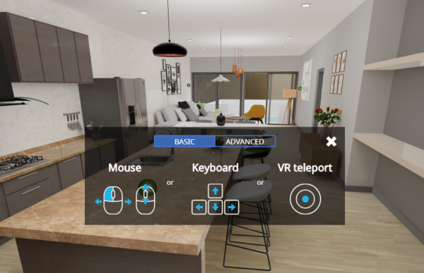 VR Tour – Movement tool