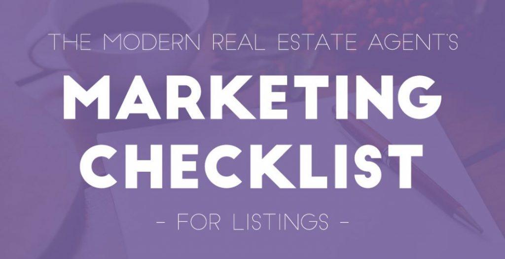 steps for realtor marketing checklist